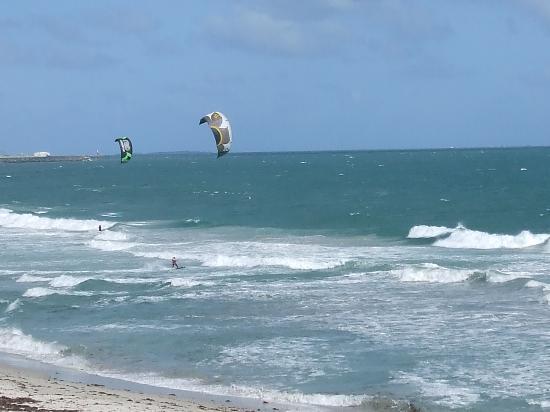 """Kitesurfing at Cottesloe Beach"""
