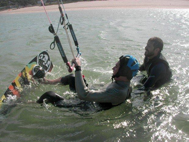 """Kitesurfing at Fonte da Telha beach"""