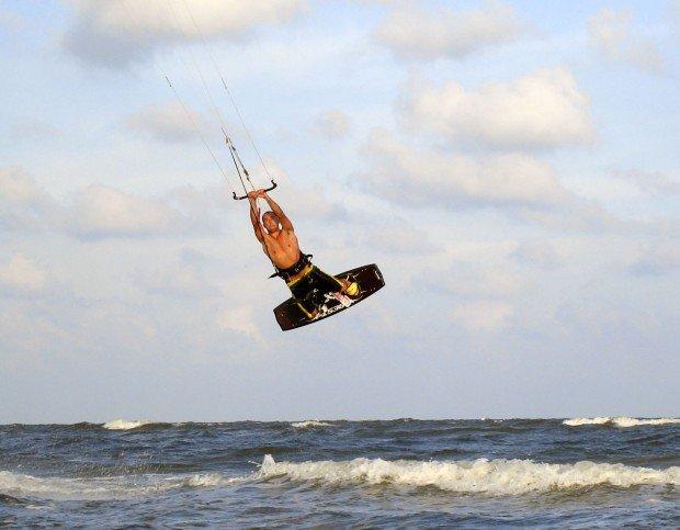 """""""Kitesurfing at Port Aransas"""""""