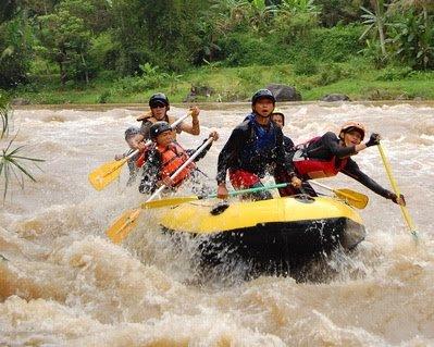 """Lower Progo River White Water Rafting"""