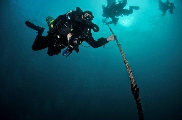 """""""Scuba diving at Cruz Del Sur Wreck"""""""