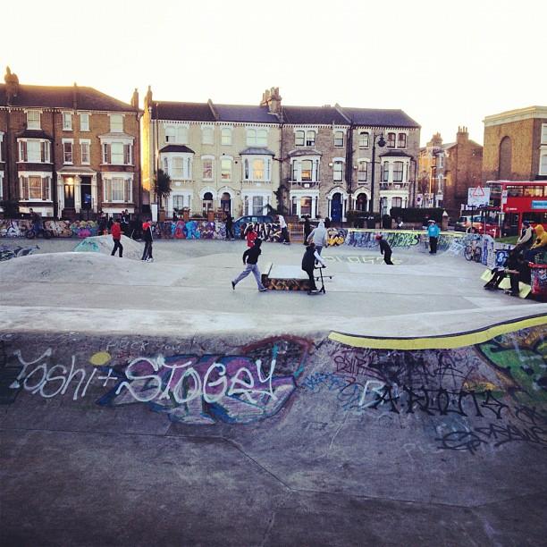 """""""Skate Boarding in Brixton Skatepark"""""""