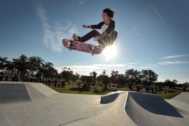 """Skate Boarding in Leerderville Skate Park Perth"""
