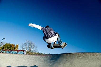 """""""Skate Boarding in Melvile Skate Park"""""""