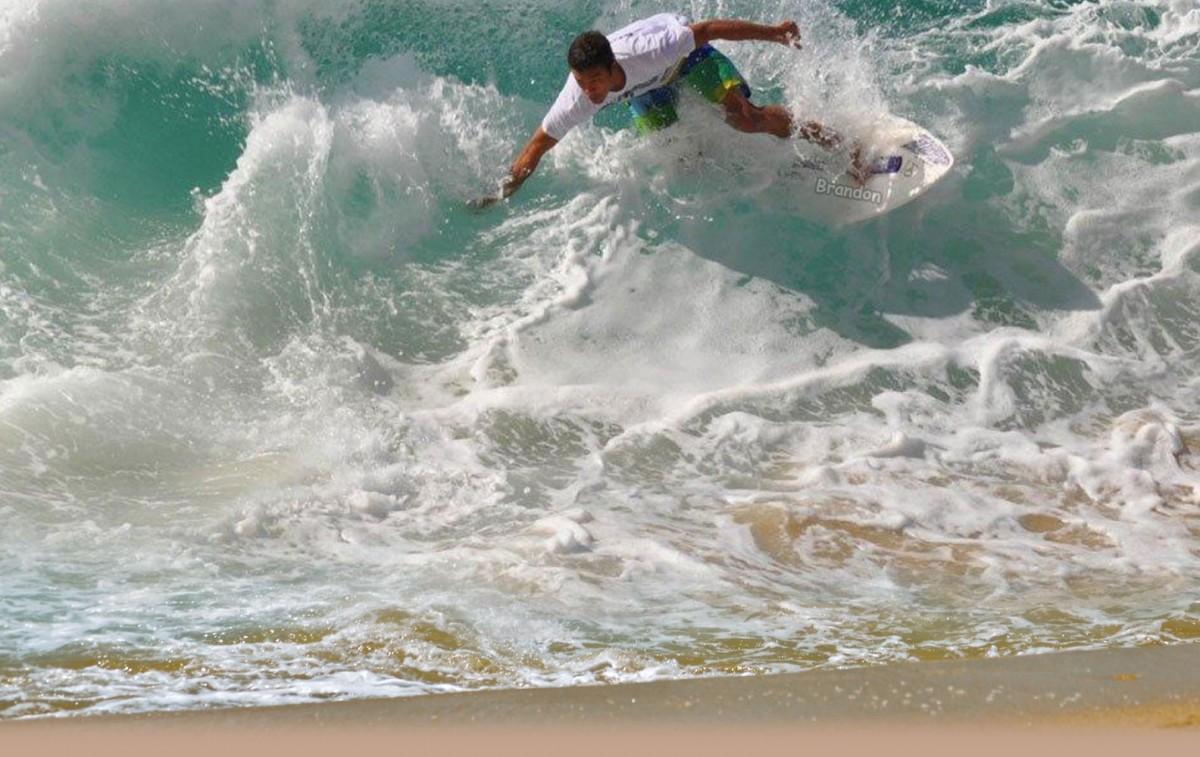 Skimboarding Dania Beach Fort Lauderdale Florida Usa