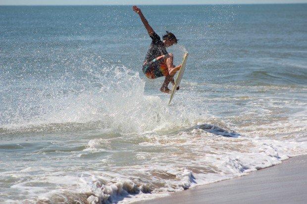 """Skimboarding at South Beach"""