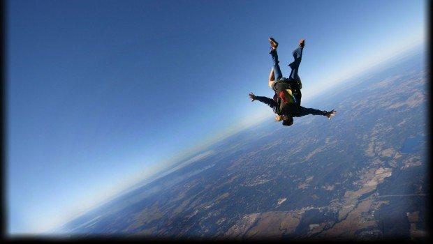 """Skydiving over Caloundra Queensland"""