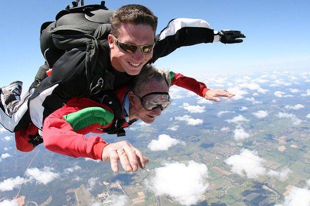 """Skydiving over Perth Australia"""
