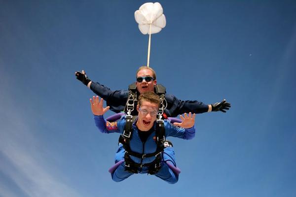 """Skydiving over York Perth"""