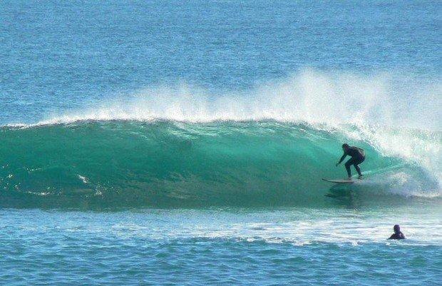 """Surfing at Leighton Beach"""