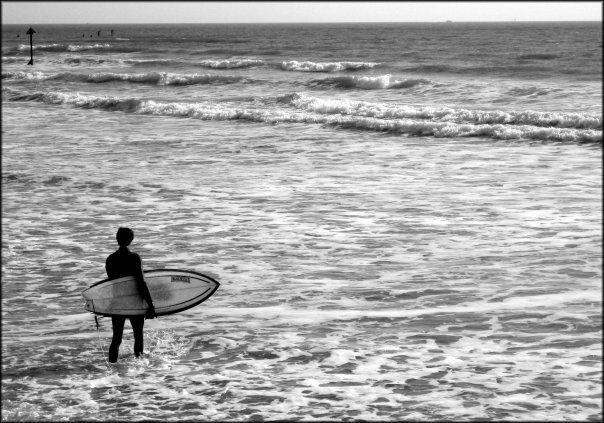 """""""Surfing at West Wittering"""""""