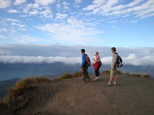"""Trekking on Mount Batur Bali"""