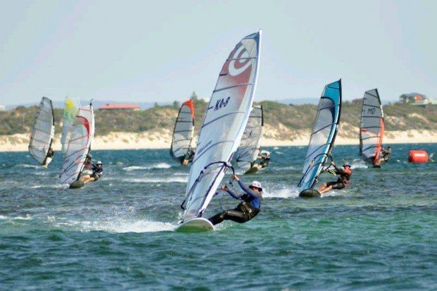 """""""Windsurfing at Safety Bay"""""""