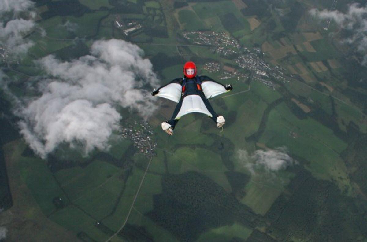Wingsuit Flying Ruppiner Land Airport Berlin Brandenburg
