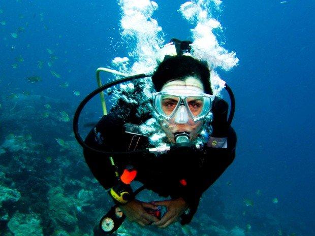 """Scuba Diving Woman"""