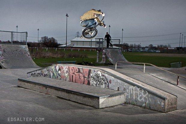 """""""BMX riding in Marseille Skatepark"""""""