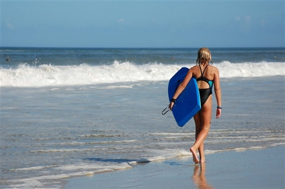 """""""Bobyboarding at Outer Banks Beach"""""""