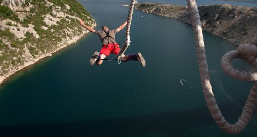 """Bungee Jumping at Vic. Falls Bridge"""