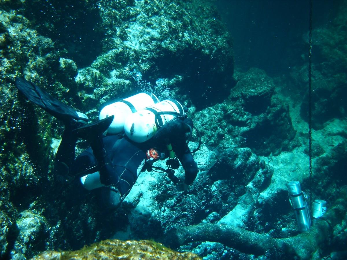 Cave Scuba Diving Blue Grotto Tampa Florida USA