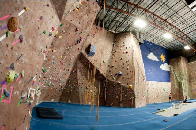 Indoor Rock Climbing At The Edge Gym