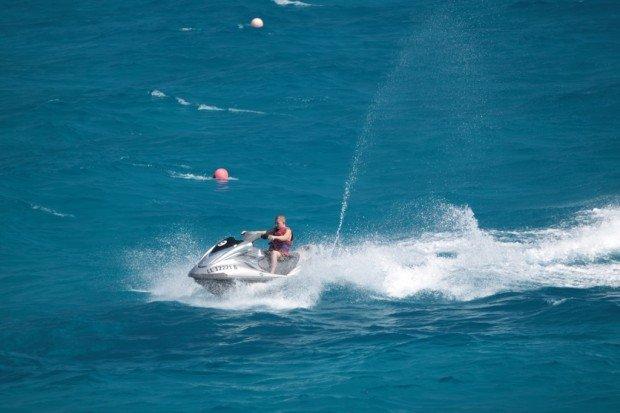 """Jet Skiing at Nissi Beach"""