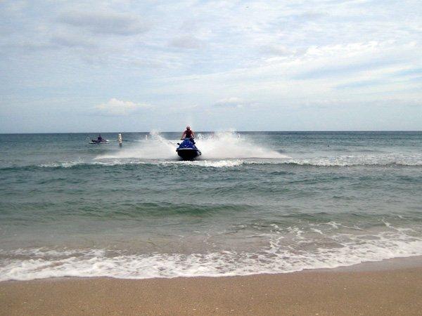Jet Skiing Pompano Beach Fort Lauderdale Florida Usa