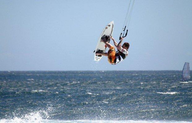 """Kitesurfing at Curium Beach"""