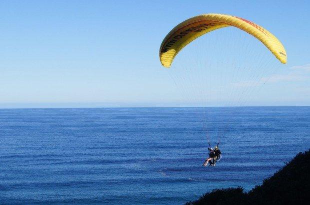 """Paragliding at Petra Tou Romiou"""