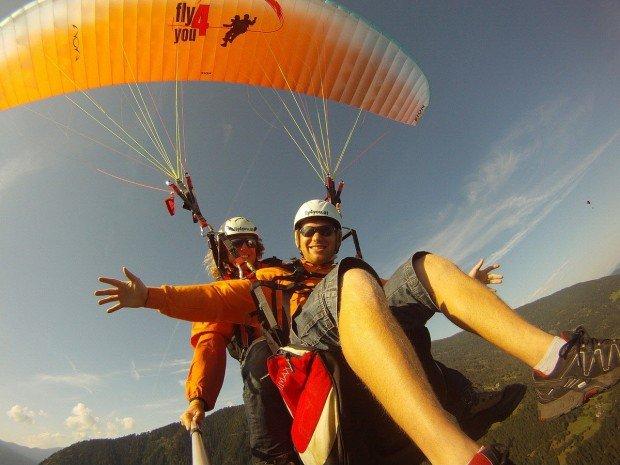 """Paragliding in Radsberg"""