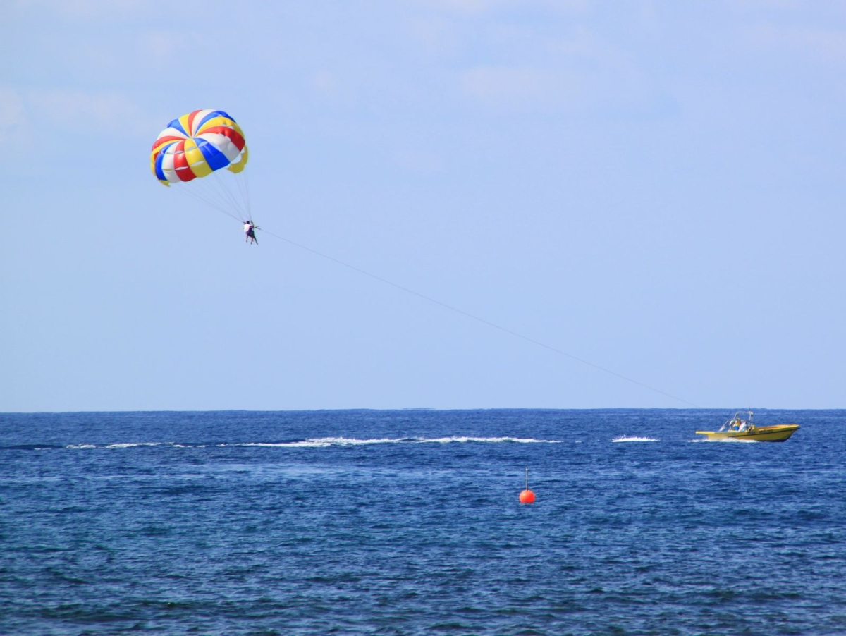 Parasailing At Makronissos Beach