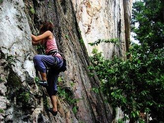 """""""Rock Climbing at the Batu Caves Kuala Lumpur"""""""