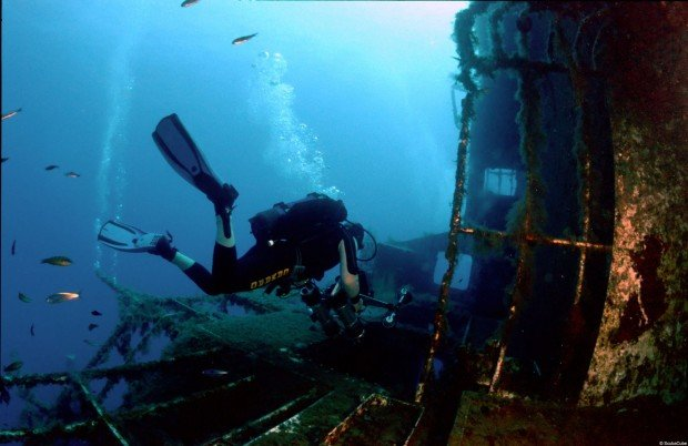 """Scuba diving at MS Zenobia Wreck"""