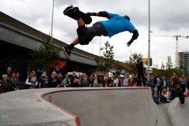 Skate Bowl in Park Spoor Noord, Antwerp