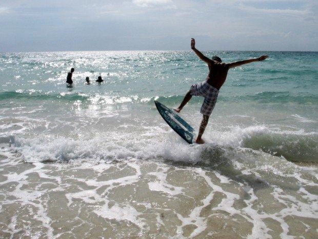 """""""Skimboarding at Daytona Beach"""""""