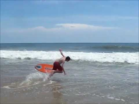 """""""Skimboarding at Sandbridge Beach"""""""
