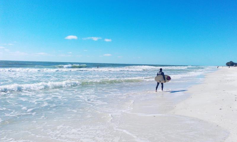 Surfing Bradenton Beach Tampa Florida USA