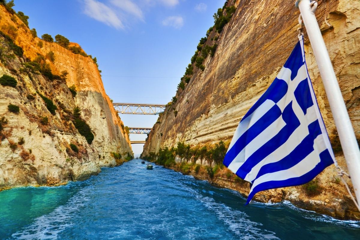 Bungee Jumping Corinth Canal Corinthos Peloponnese Region ...