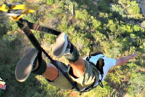 Bungee Jumping Wild Canyon Adventures El Tule Canyon Baja