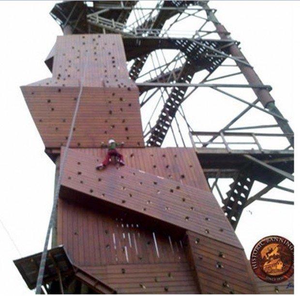 """Historic Banning Mills Climbing Walls"""