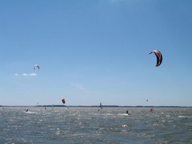 """Kitesurfing at Dewey Beach"""