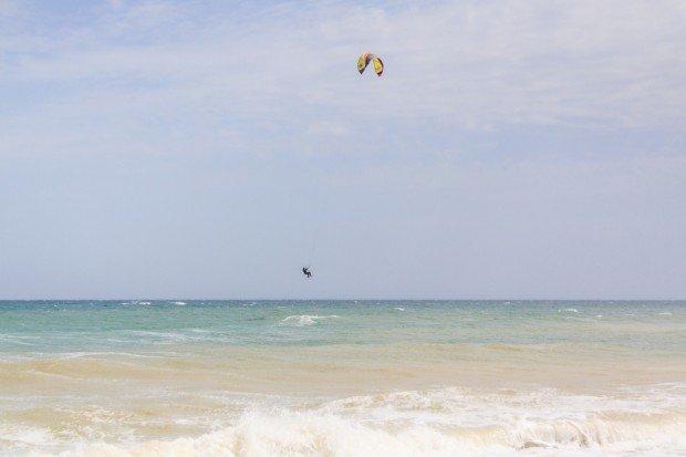 """Kitesurfing at Vama Veche Beach"""