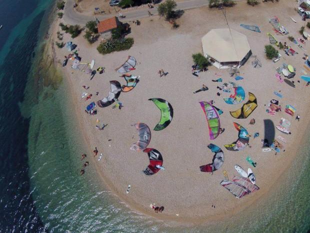 """Kitesurfing at Viganj Beach"""