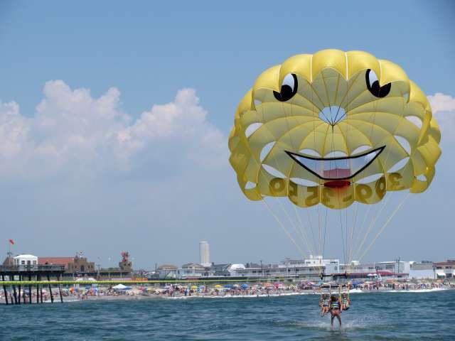 Parasailing Ocean City Cape May New Jersey USA