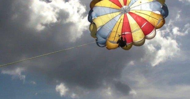 """""""Parasailing at San Miguel de Cozumel"""""""