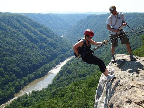 Rock Climbing Seneca Rocks Pendleton County West Virginia Usa