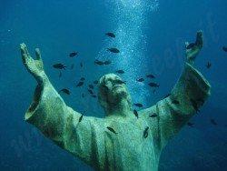 Il Cristo degli Abissi, San Fruttuoso Bay