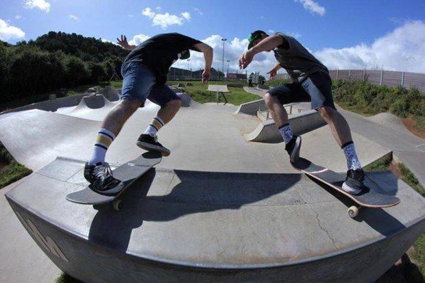 """""""Skateboarders in Gent Skatepark"""""""
