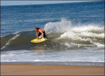 """Skimboarding at Dewey Beach"""