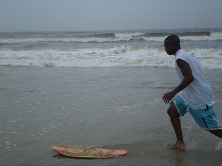 """Skimboarding at Ocean City Cape May"""
