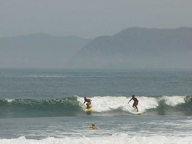 """Surfing at Barra de Navidad"""